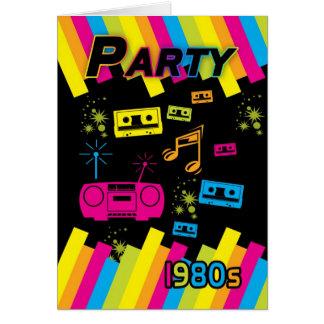 カリフォルニアの80色の80年代のパーティの招待状カード カード