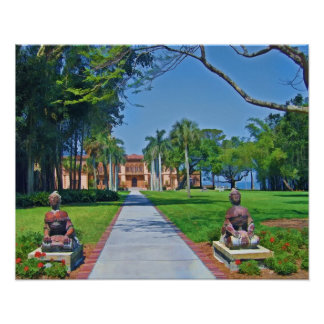 カリフォルニアのd'Zan大邸宅、Sarasota、FLのプリント ポスター