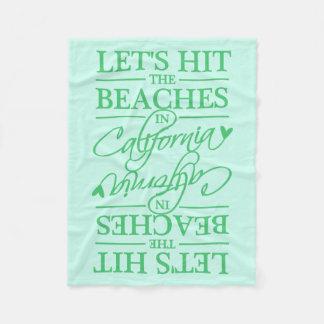 カリフォルニアはカスタムな色のフリースブランケットを浜に引き上げます フリースブランケット