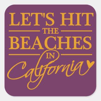 カリフォルニアはステッカーを浜に引き上げます スクエアシール