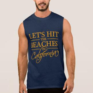 カリフォルニアはワイシャツを浜に引き上げます-スタイルを選んで下さい 袖なしシャツ