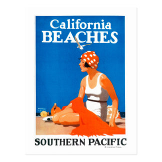 カリフォルニアは昇進ポスターを浜に引き上げます ポストカード