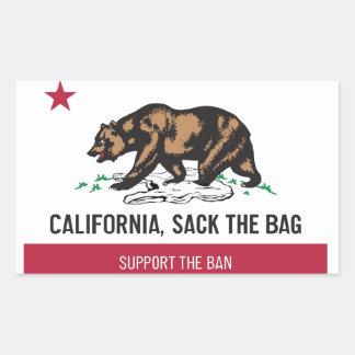 カリフォルニアは、バッグを袋に入れます 長方形シール