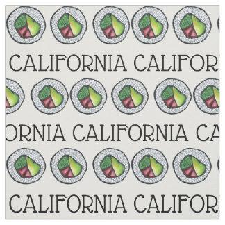 カリフォルニアはCaliの日本のな食糧寿司ロールカリフォルニアを転がります ファブリック