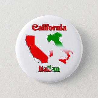 カリフォルニアイタリア語 5.7CM 丸型バッジ