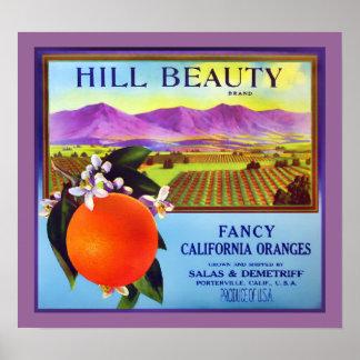カリフォルニアオレンジのフルーツ広告プリント ポスター