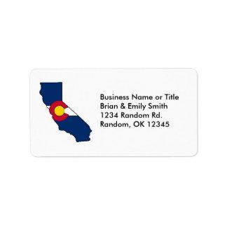 カリフォルニアカスタムなコロラド州差出人住所ラベル ラベル