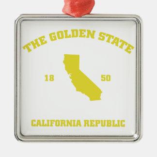カリフォルニアカリフォルニア メタルオーナメント