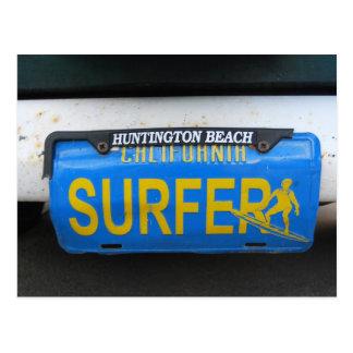カリフォルニアサーファーのナンバープレート ポストカード