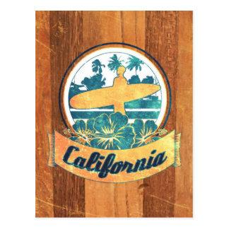 カリフォルニアサーフボード ポストカード