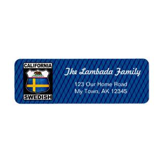 カリフォルニアスウェーデンのアメリカの宛名ラベル ラベル