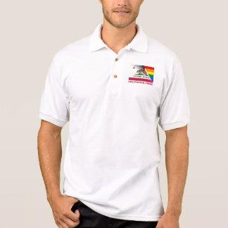 カリフォルニアプライドLGBTQの虹の旗 ポロシャツ