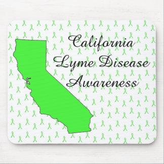 カリフォルニアライム病の認識度のリボンのマウスパッド マウスパッド