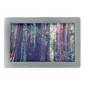 カリフォルニアレッドウッド 長方形ベルトバックル