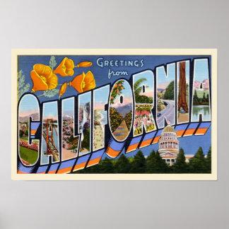 カリフォルニアヴィンテージの挨拶 ポスター