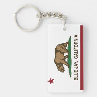 カリフォルニア共和国のアオカケスの旗 キーホルダー