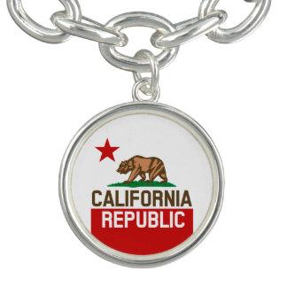 カリフォルニア共和国の州の旗の星 チャームブレスレット