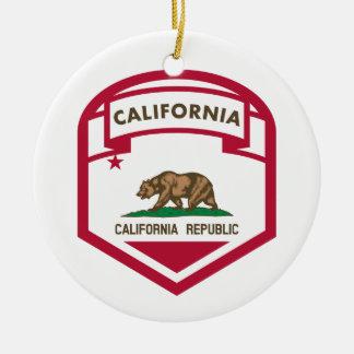 カリフォルニア共和国の州の旗の盾 セラミックオーナメント