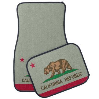 カリフォルニア共和国の州の旗カスタムな車のマットセット 車 フロアマット