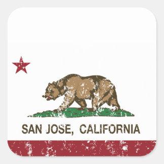 カリフォルニア共和国の州の旗サンノゼ スクエアシール