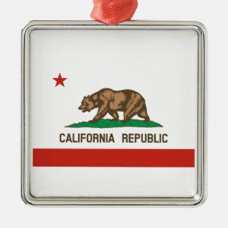 カリフォルニア共和国の州の旗 メタルオーナメント