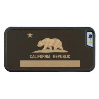 カリフォルニア共和国の州の旗 CarvedメープルiPhone 6バンパーケース