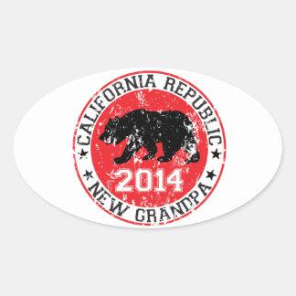 カリフォルニア共和国の新しい祖父2014年 楕円形シール