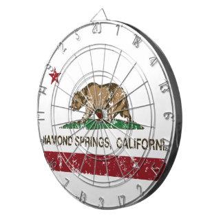 カリフォルニア共和国の旗のダイヤモンドの春 ダーツボード