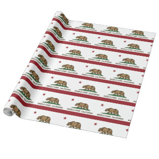カリフォルニア共和国の旗の天使のキャンプ 包装紙