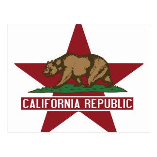 カリフォルニア共和国の旗の習慣 ポストカード
