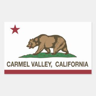 カリフォルニア共和国の旗のcarmelの谷 長方形シール