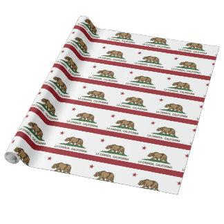 カリフォルニア共和国の旗のLaカナダ ラッピングペーパー