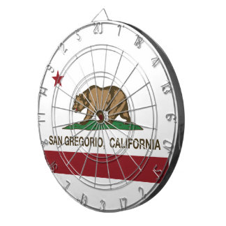 カリフォルニア共和国の旗サングレゴリオ ダーツボード