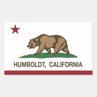 カリフォルニア共和国の旗フンボルト 長方形シール