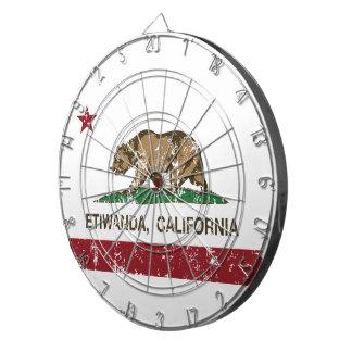 カリフォルニア共和国の旗Etiwanda ダーツボード