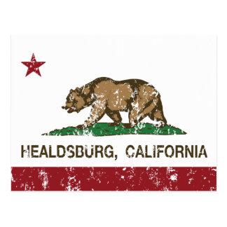 カリフォルニア共和国の旗Healdsburg ポストカード