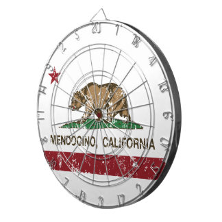 カリフォルニア共和国の旗Mendocino ダーツボード