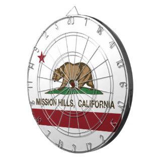 カリフォルニア共和国の旗Mission Hills ダーツボード