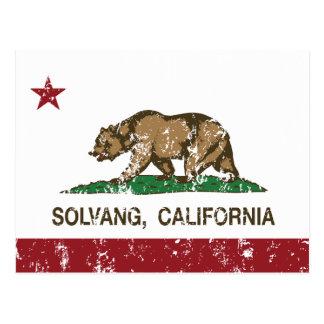 カリフォルニア共和国の旗Solvang ポストカード