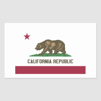 カリフォルニア共和国 長方形シール