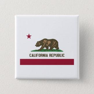 カリフォルニア共和国 5.1CM 正方形バッジ