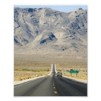 カリフォルニア及びネバダの州境 フォトプリント