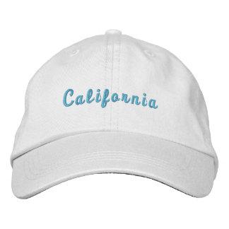カリフォルニア名前入りで調節可能な帽子 刺繍入りキャップ