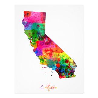 カリフォルニア地図 チラシ