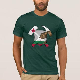 カリフォルニア地質学者の石のハンマーおよび盾 Tシャツ