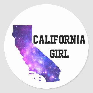 カリフォルニア女の子の銀河系 ラウンドシール