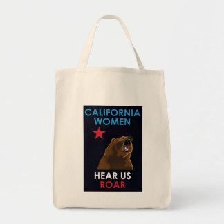カリフォルニア女性は米国がとどろくのを聞きます トートバッグ