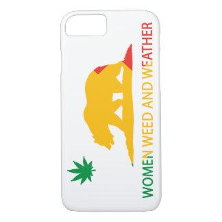 カリフォルニア女性雑草および天候の旗 iPhone 8/7ケース