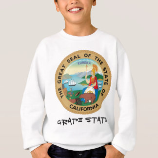 カリフォルニア州のシールおよびモットー スウェットシャツ