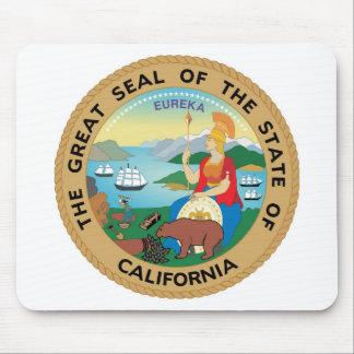カリフォルニア州のシールおよびモットー マウスパッド